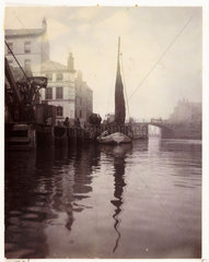 Whitby Harbour  North Yorkshire  c 1905.