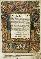 Title page of 'Margarita Philosophica'  1535.