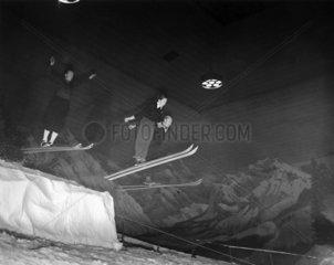 World Champion skiers rehearsing  4 December 1938.