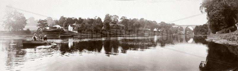 Wetheral Viaduct  Cumbria  c 1900.