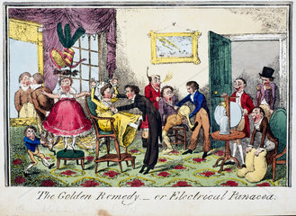 'The Golden Remedy - or Electrical Panacea'  1818.