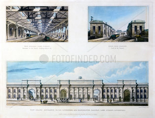 Three views of the Liverpool & Manchester Railway  Liverpool  1836.