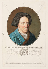 Bernard le Bovier de Fontenelle  French philosopher and writer  early 18th century.