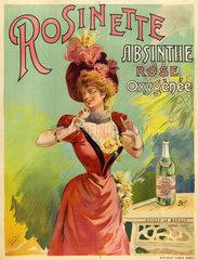 'Absinthe Rosinette'  c 1900.
