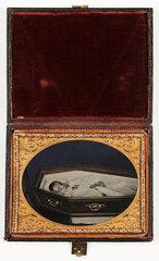 Post mortem portrait of a young child  c 1860.