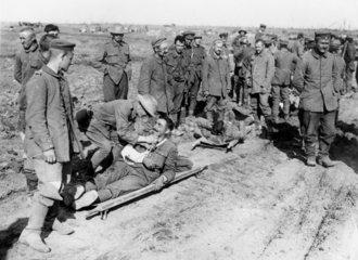 German prisoners of war  France  1914-1918.