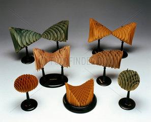 Cardboard models of Second Order Surfaces  1901.