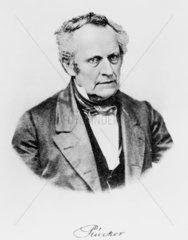 Julius Plucker  German mathematician and physicist  mid 19th century.