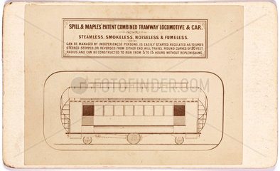 Spill & Maples's combined tramway locomotive and car  1873-1874.