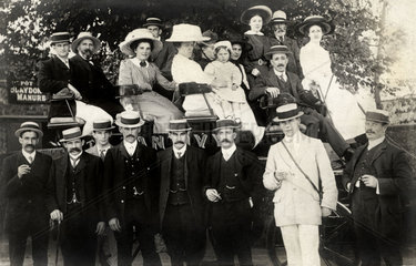 Coach party  North-East of England  1910s.