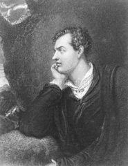 Lord Byron  English poet  c 1815.