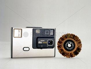 Kodak disc 4000 camera with film  1982-1984.