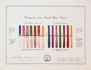 Sundour unfadable colours advertisment  early 20th century.