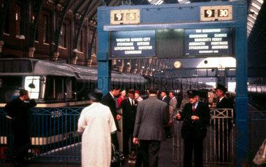 Ticket barrier  Waterloo Station  London  1960.