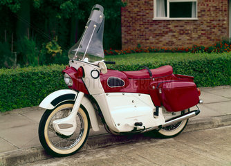 Ariel Leader twin-cylinder  two-stroke motorcycle  1963.