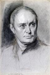 Charles Babbage  mathematician and computing pioneer  c 1840.