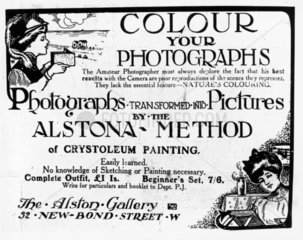 Advertisment from the Photographic Journal