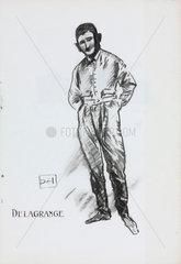 Ferdinand Leon Delagrange  pioneering Franch aviator  1909.