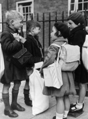 A group of child evacuees  29 August 1939.