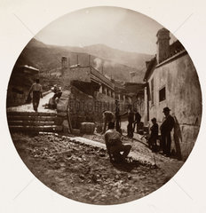 Laying a road  c 1890.