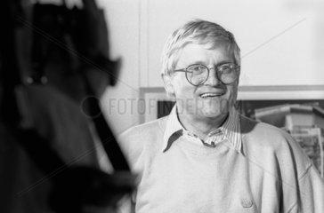 David Hockney at the NMPFT  Bradford  July 1985.
