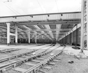 Ilford carriage shed  London  29 July 1959.