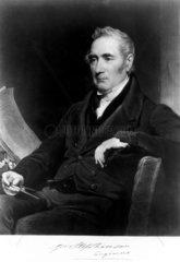 George Stephenson  English railway engineer  c 1825-1835.