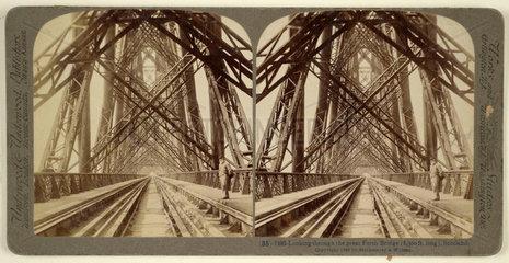 Forth Bridge  late 19th century.