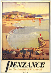 Penzance  GWR poster  c 1930s. Great Wester