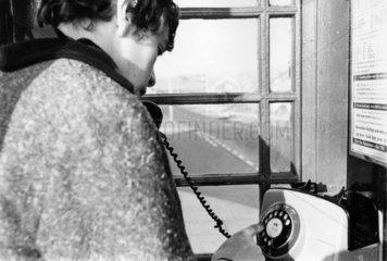 Public telephone box  February 1966.