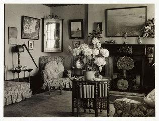 Living room interior  c 1930.