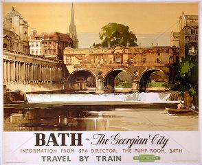 'Bath - The Georgian City'  BR poster  1950.