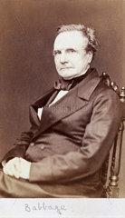 Charles Babbage  English pioneer of machine computing  1860.