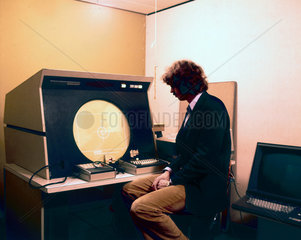 Interactive graphics terminal at Imperial College  London  1975.