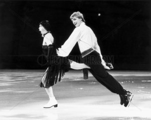 Torvill and Dean  British ice-skaters  on their world tour  1985.