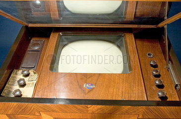 Marconiphone model 702 mirror-lid television receiver  c 1936.