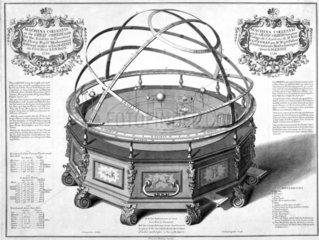 Thomas Wright's Machina Coelestis  or the Great Orrery  1730.