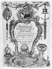 Trade card of John Bennett  Crown Court  London  18th century.