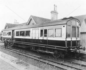 Steam railcar  late 19th-early 20th century.