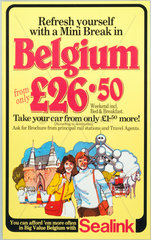 'Belgium from only £26.50'  BR (Sealink) poster  c 1980s.
