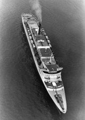 'Queen Elizabeth 2' (QE2) at sea  23 August 1979.