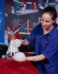 A carbon dioxide 'bubble'  Science Museum  London  August 2001.