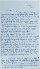 Letter revealing the Cottingley Fairies photographs as fakes  1983.