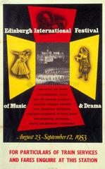 'Edinburgh International Festival of Music & Drama'  poster  1953.