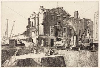 Demolition site  1910s.