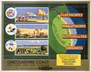 'Lincolnshire Coast'  BR poster  1950s.