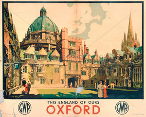 'Oxford'  GWR poster  1923-1947.