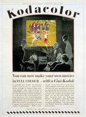 Advertisement for Kodacolor cine film  1929