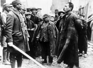 A Japanese spy being captured  4 March 1932.