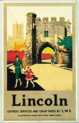 'Lincoln'  LMS poster  c 1930s.